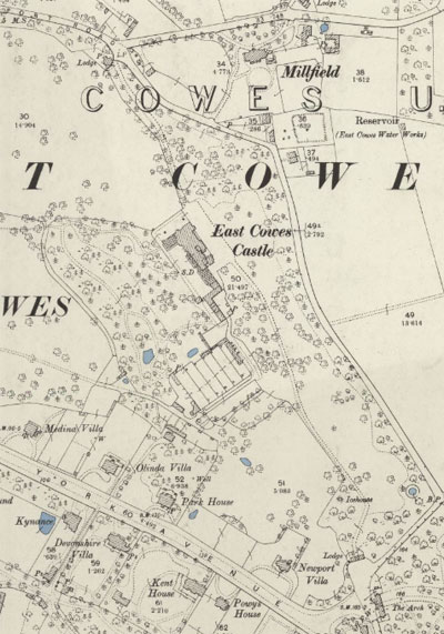 East Cowes Castle - 1896 map