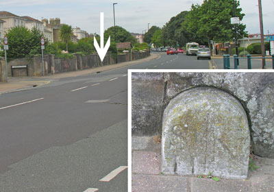 Ryde Esplanade location of St Helen/Newchurch Parish Boundary marker