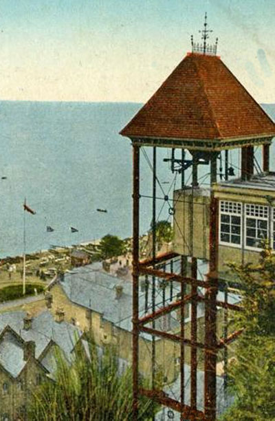 The old Shanklin Cliff Lift