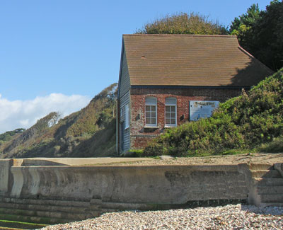 The old Totland Bay Lifeboat boathouse