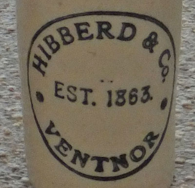 Charles Hibberd & Co 19th century bottle