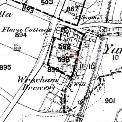 Wrexham Yarbridge brewery location 1882